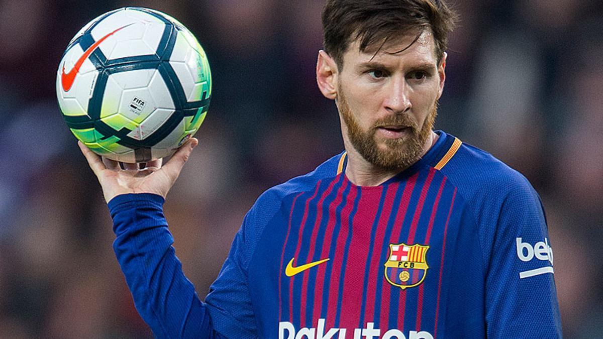 Messi, durante un partido de la Liga Santander.