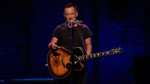 Bruce Springsteen, en uno de sus conciertos acústicos en Broadway.