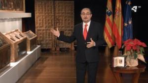 El president d'Aragó acomiada l'any amb les obres recuperades de Sixena