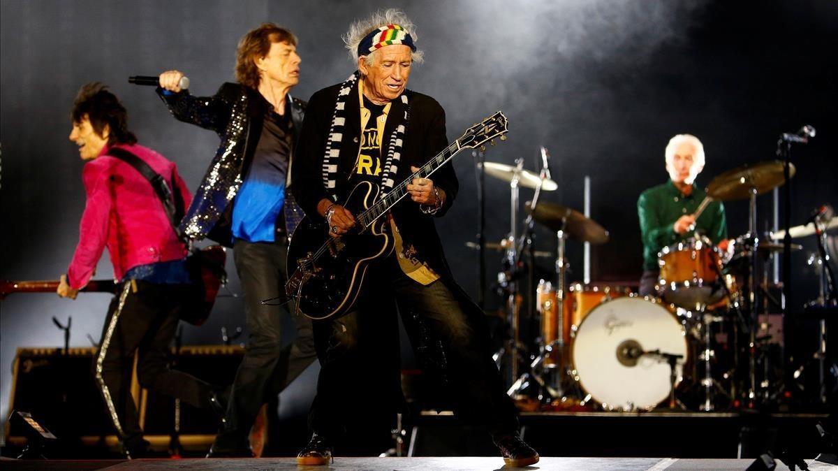 Ron Wood, Mick Jagger, Keith Richards y Charlie Watts, en un concierto de los Stones, el pasado 20 de septiembre en Zúrich