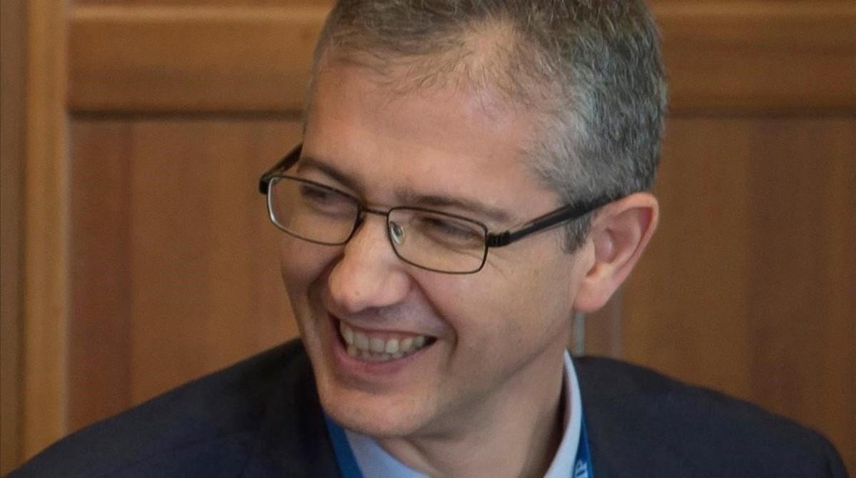 Elgobernador del Banco de España,Pablo Hernández de Cos.