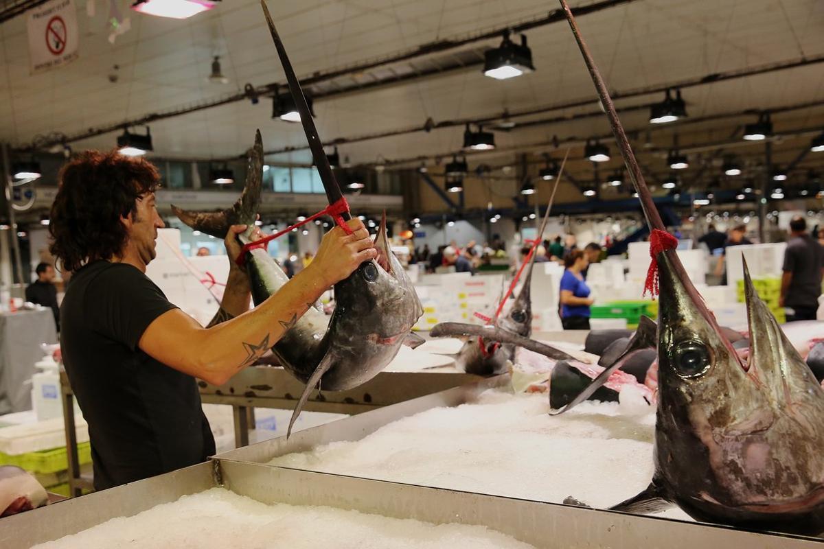 El mercado de pescado de Mercabarna.