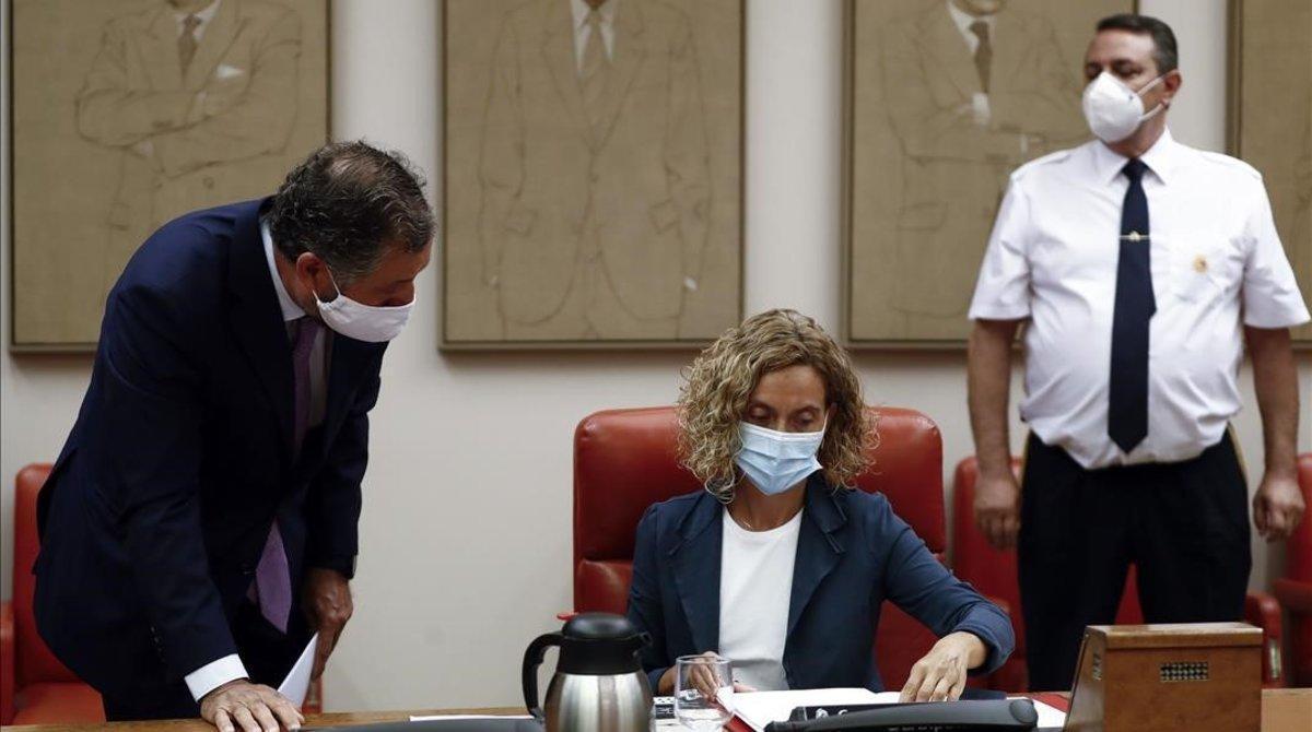 La presidenta del Congreso, Meritxell Batet, en la Diputación Permanente.