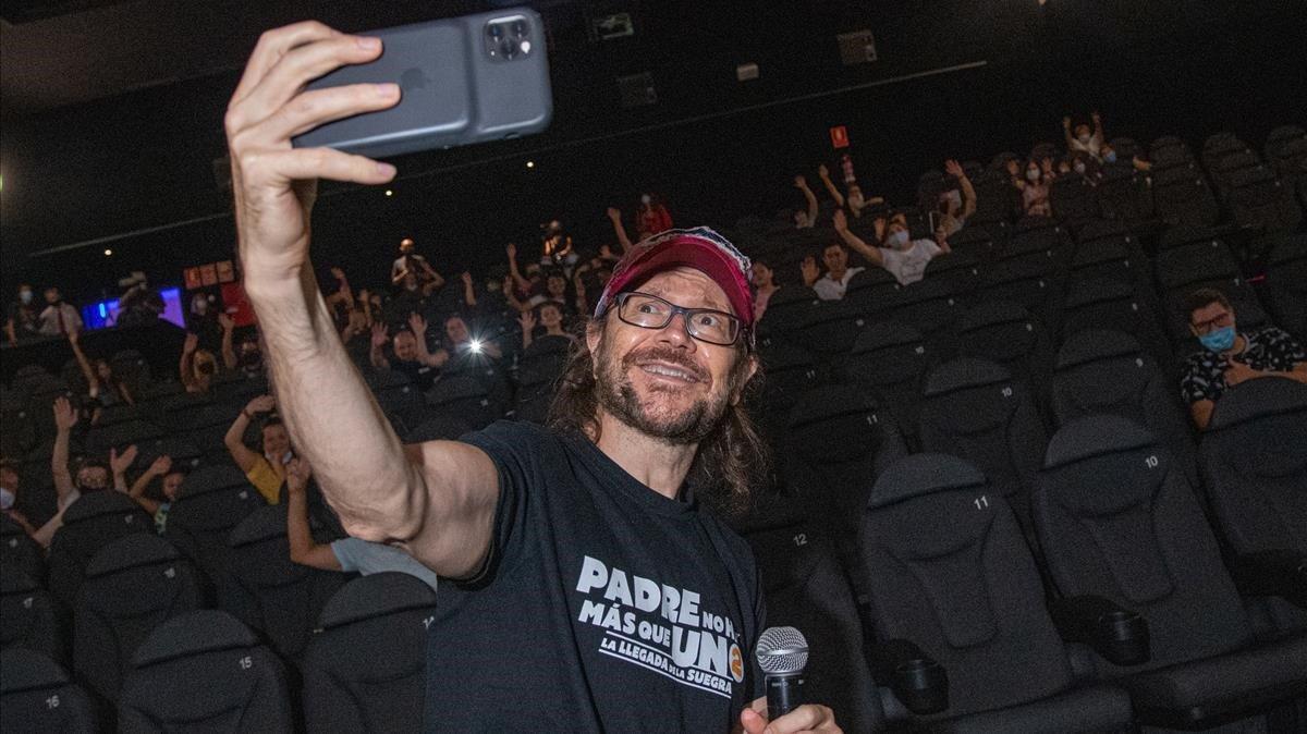 Santiago Segura, en los cines Ocine de Badalona, el pasado día 6 de agosto.