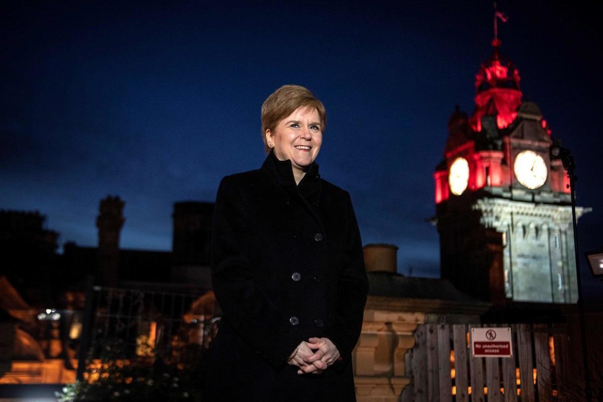 Nicola Sturgeon, en Edimburgo