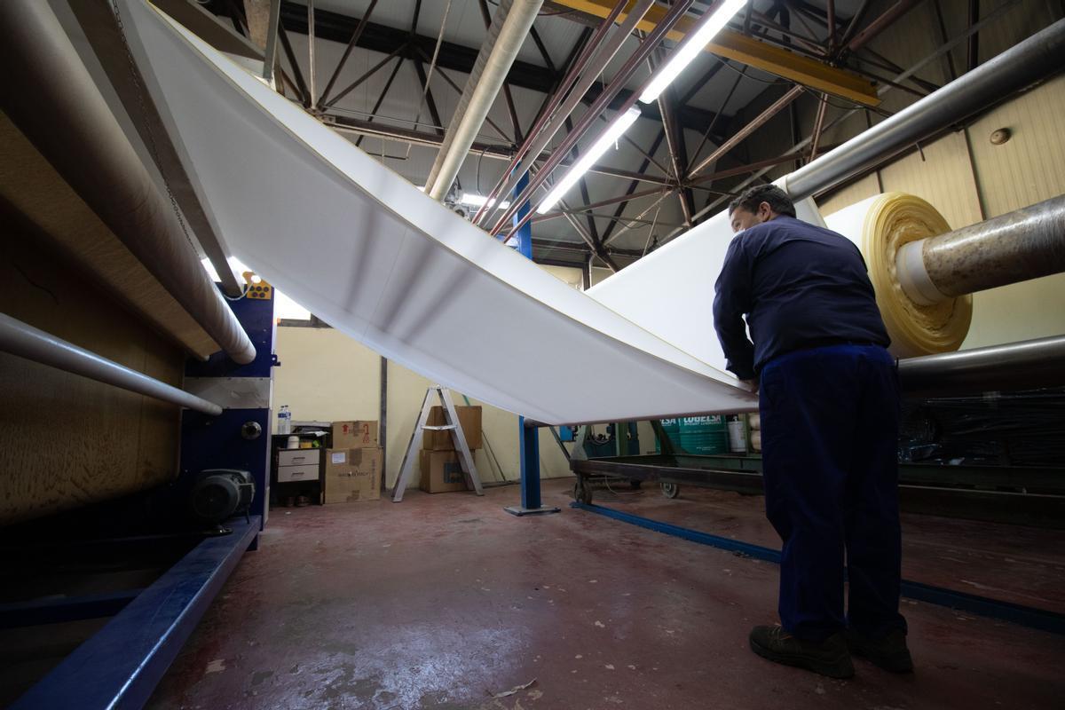 Fábrica textil de la firma Jover.