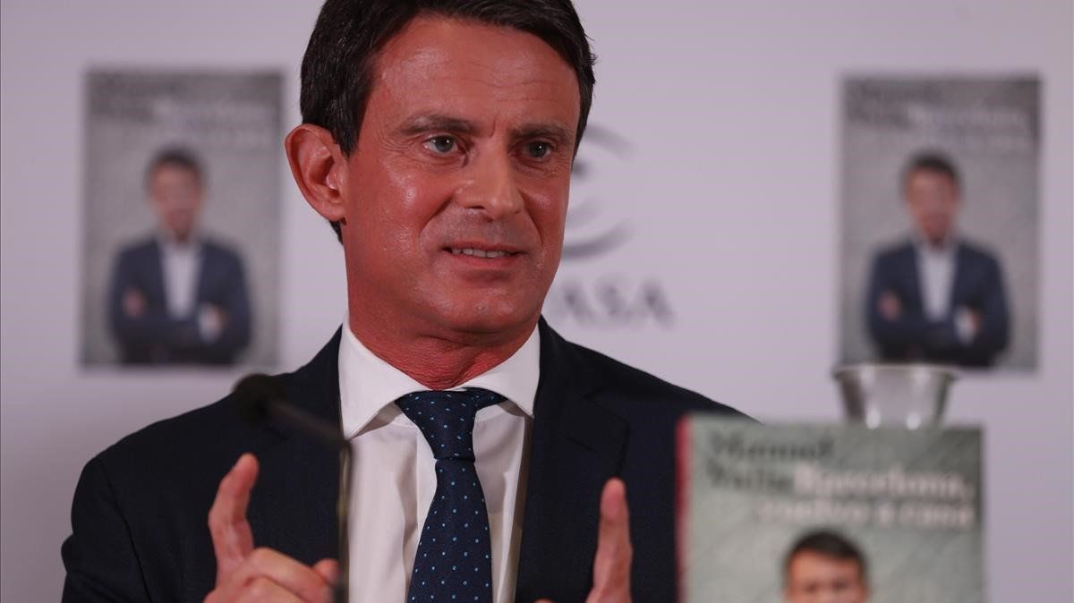 Manuel Valls, durante la presentación de su libro 'Barcelona, vuelvo a casa'.