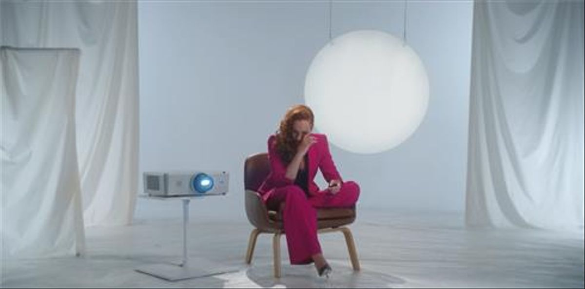 Rocío Carrasco, en el plató de la docuserie de Mediaset.