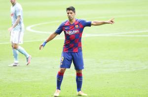 El delantero del Barça Luis Suárez durante el partido contra el Celta.