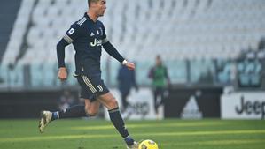 Cristiano Ronaldo, durante el último partido de la Juventus.