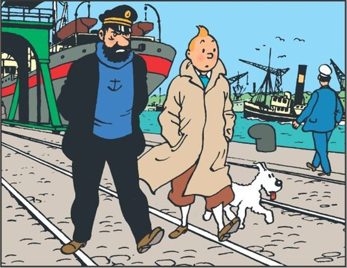 El capitán Haddock y Tintín, en una imagen de sus aventuras.