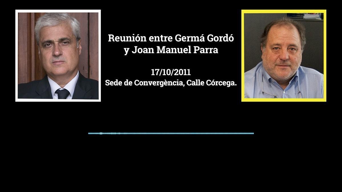 Audio de la reunión del 'exconseller' Germà Gordó con el empresario Joan Manuel Parra