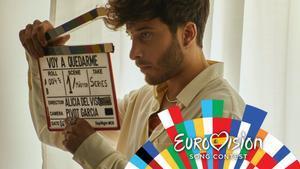 Blas Cantó en el making-off del videoclip de 'Voy a quedarme', la canción con la que representará a España en Eurovisión 2021.