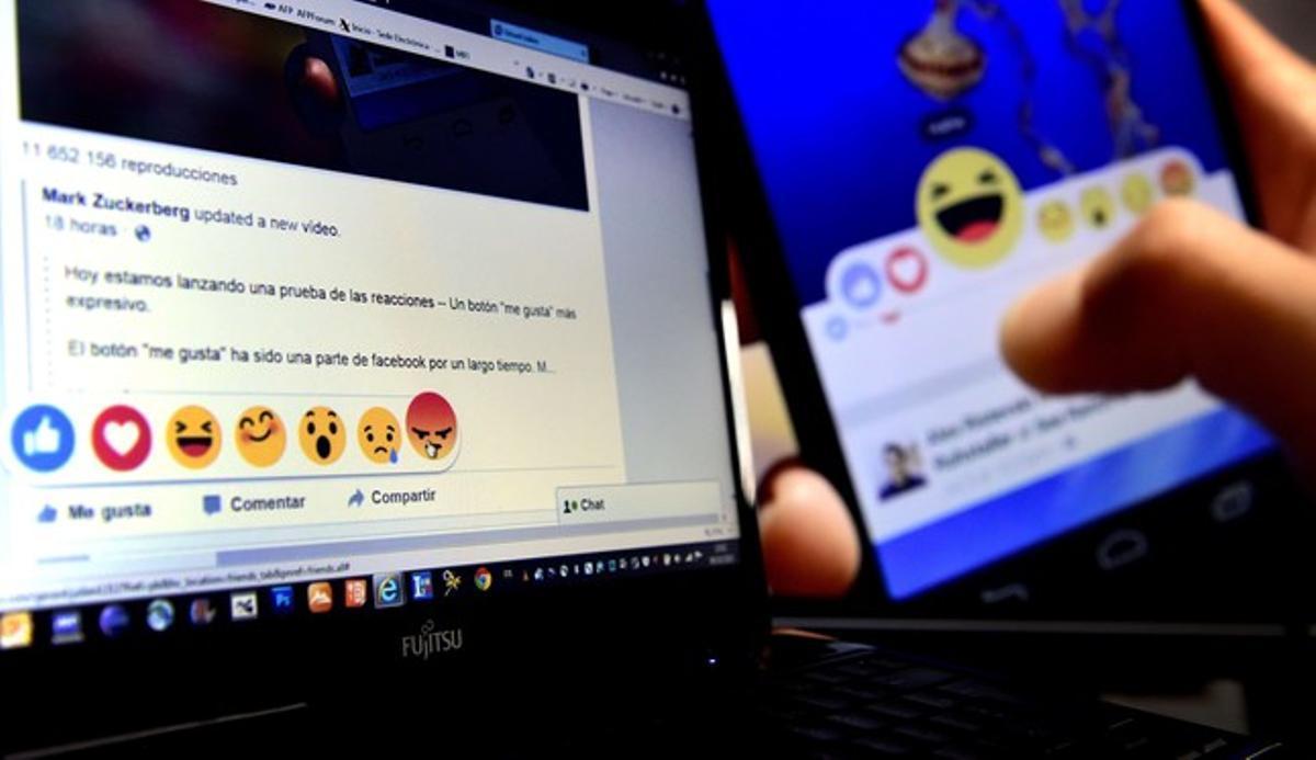 Una página de Facebook con las distintas opciones que ofrece la red social desde este viernes en España e Irlanda.