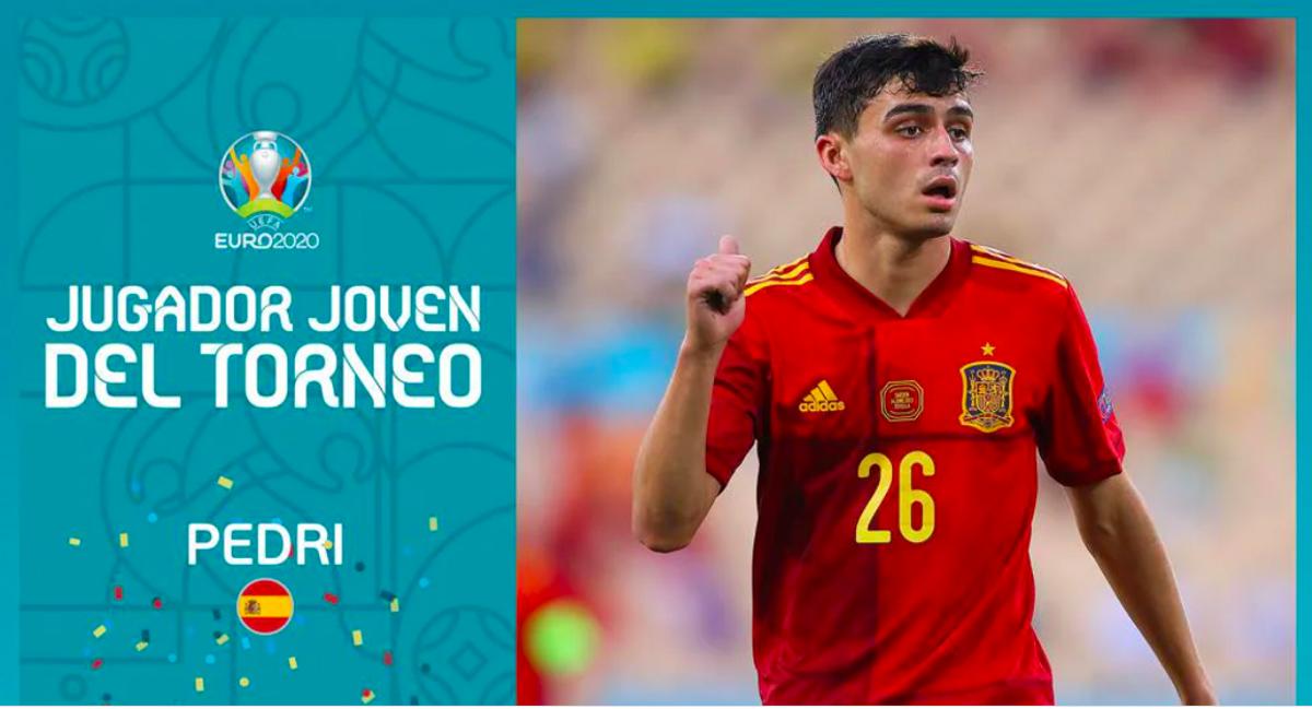 Pedri, elegit millor jugador jove de l'Eurocopa