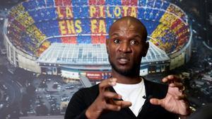 Eric Abidal, en una de las salas de la ciudad deportiva de Sant Joan Despí.