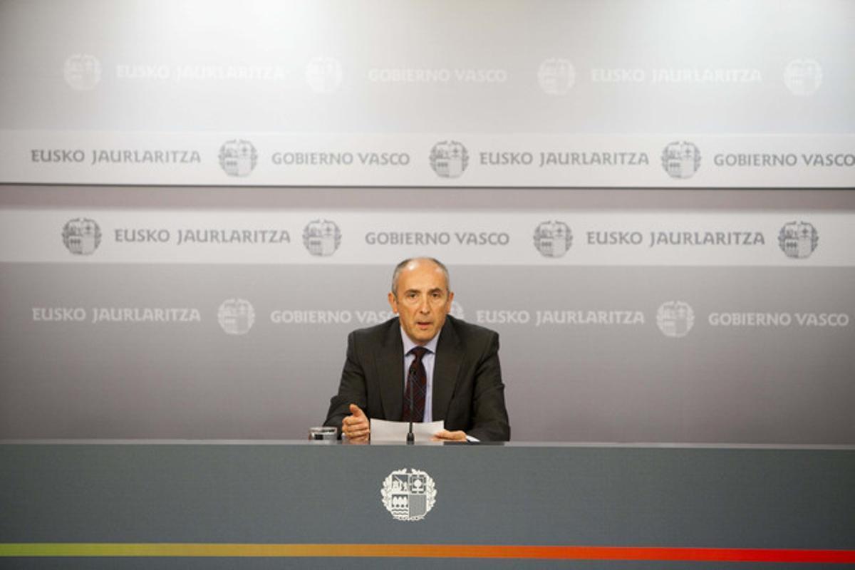 Josu Erkoreka, portavoz del Gobierno vasco, admite que están analizando un posible adelanto electoral en Euskadi