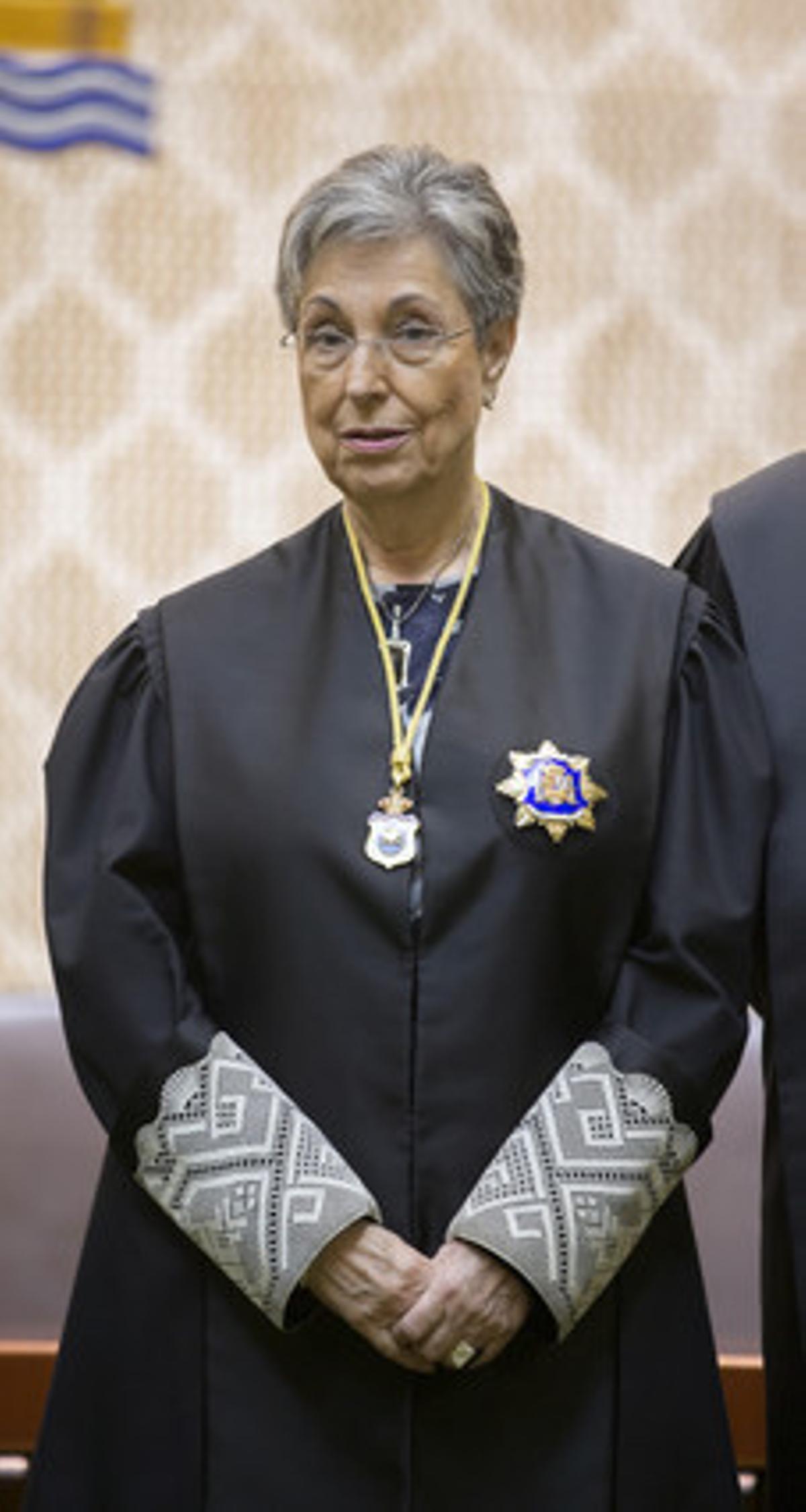 La jueza del Tribunal Constitucional Encarnació Roca, el pasado julio.