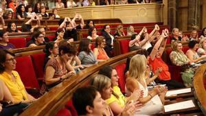 Pleno del 'Parlament de les Dones'.