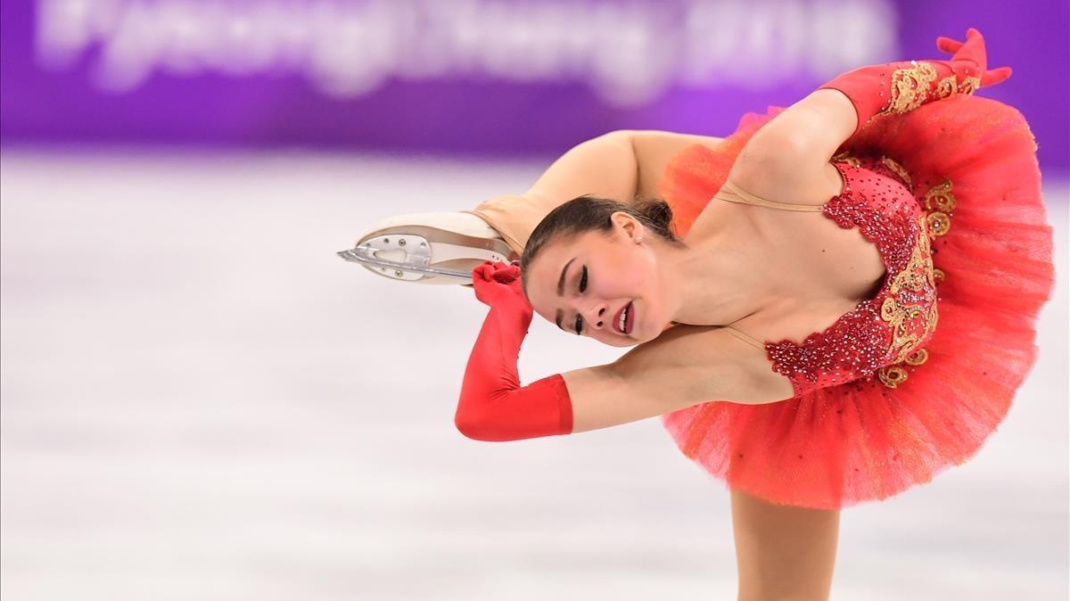 Alina Zagitova, en el programa libre.