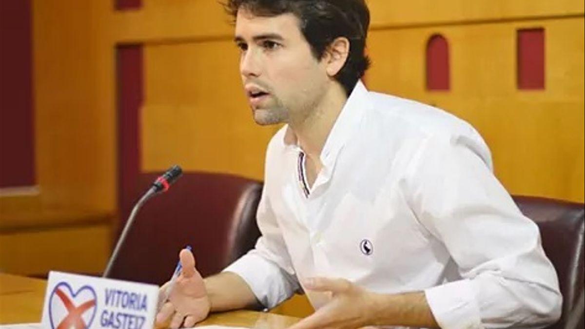 Iñaki García Calvo, en una imagen de su cuenta de Twitter.