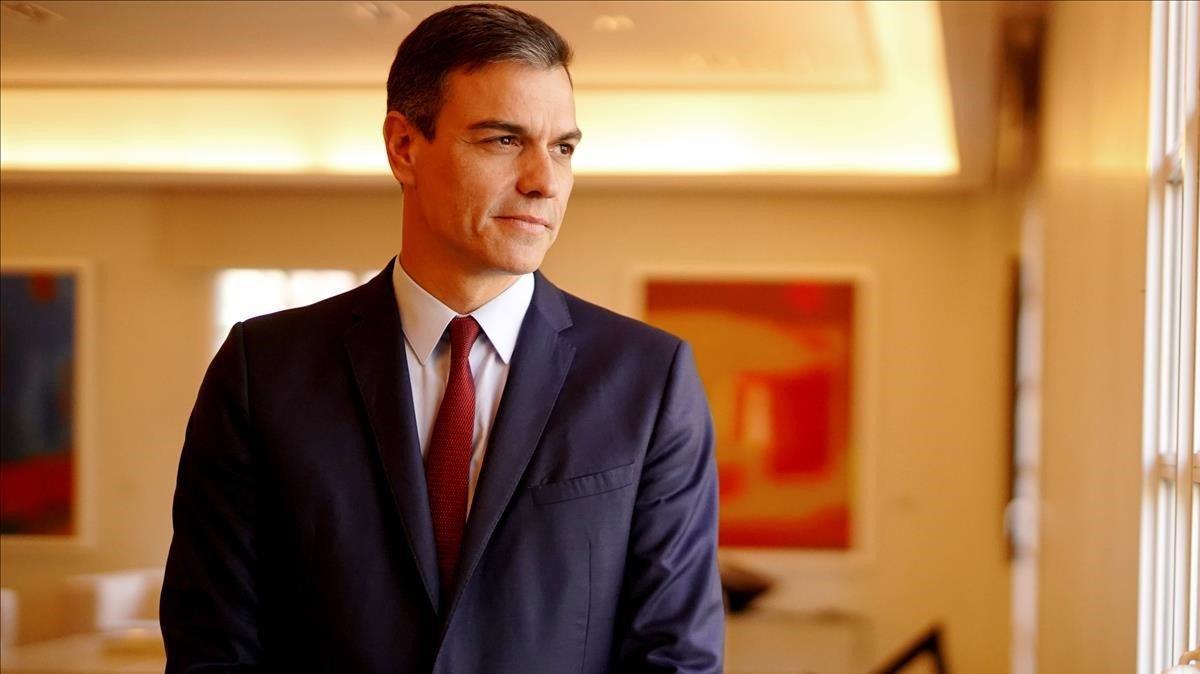 Pedro Sánchez en la Moncloa
