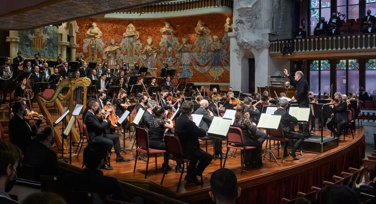 Les Siècles durante su actuación en el Palau de la Música Catalana.