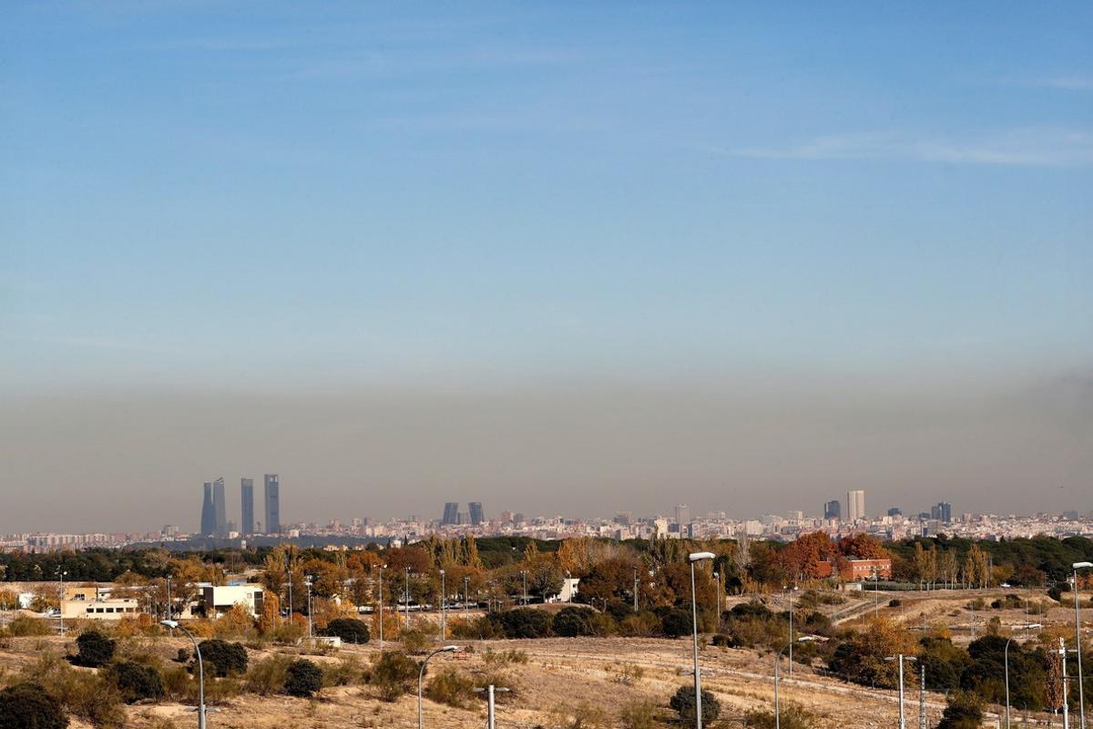 Imagen de archivo de la contaminación en Madrid.