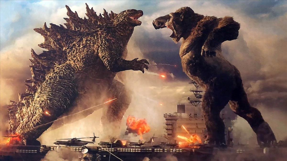 Un fotograma de 'Godzilla vs. King Kong'.