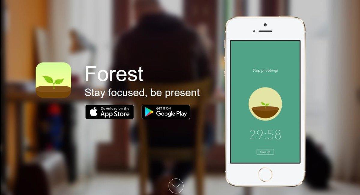 Presentación de la app 'Forest'