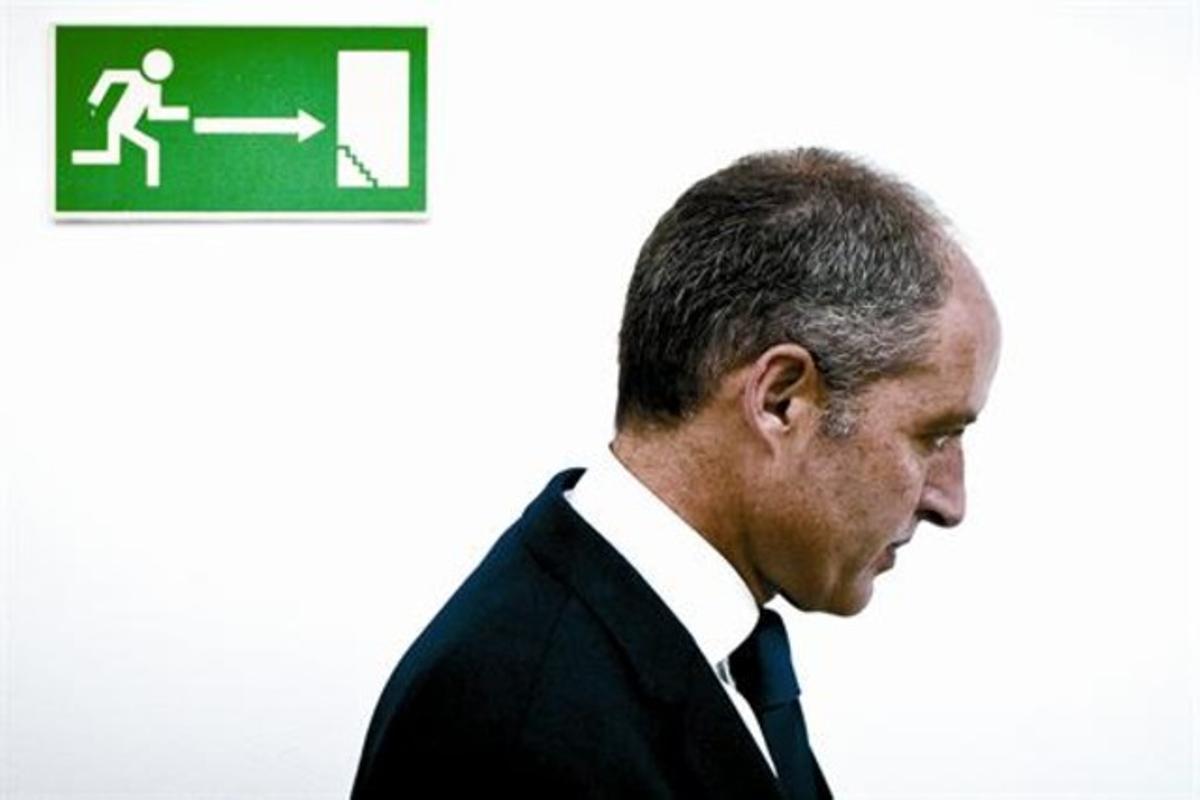 El presidente de la Generalitat valenciana, Francisco Camps, en un acto institucional el pasado 27 de junio.