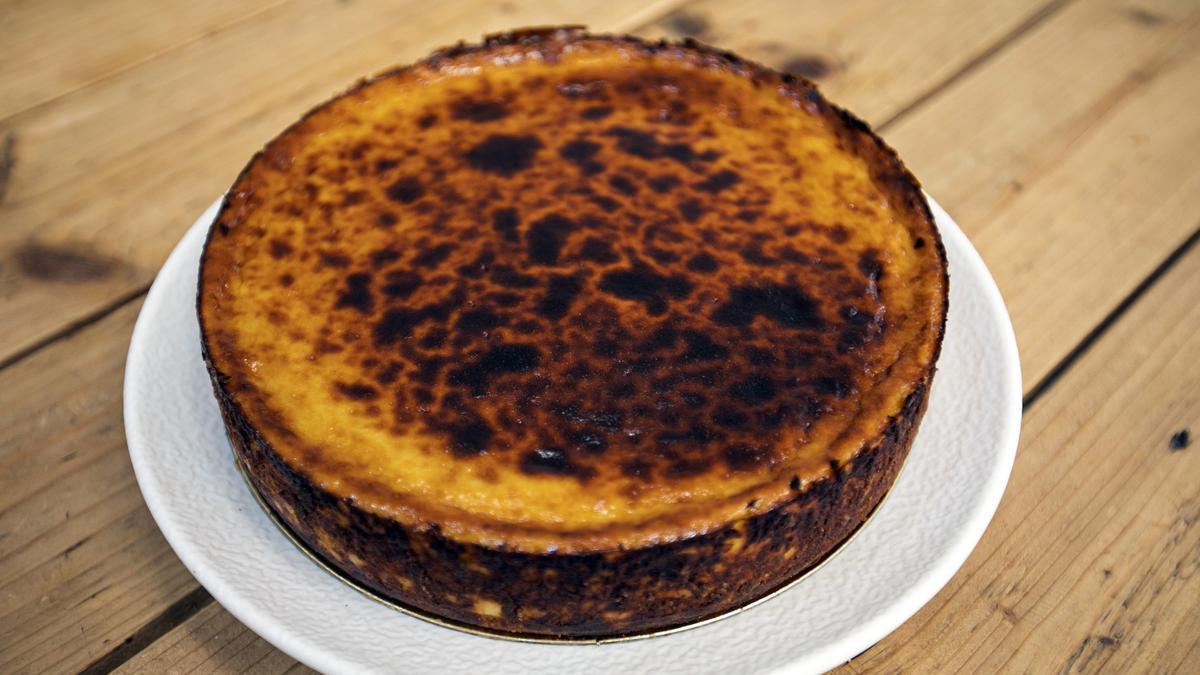 Una tarta de queso de Jon Cake.