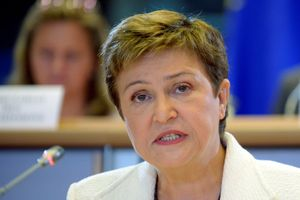 FILE PHOTO: Kristalina Georgieva of Bulgaria at the EU Parliament in Brussels October 2, 2014.  REUTERS/Eric Vidal/File Photo -/File Photo
