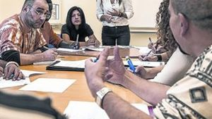 Clase en Barcelona Activa para buscar empleo en internet.