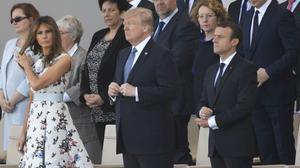 Trump assisteix a la desfilada de la Festa Nacional francesa