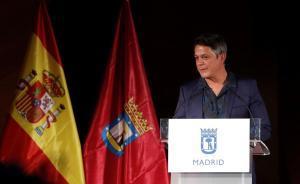El cantante Alejandro Sanz durante un acto celebrado en el Palacio de CibelesMadrid este jueves para reconocer su trayectoria profesional y su vinculacion con la ciudad.