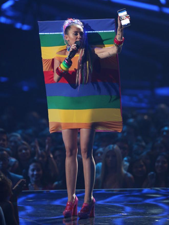 Miley durant la gala dels MTV Video Music Awards a Los Angeles.