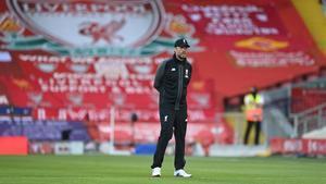 Jürgen Klopp, durante el partido que enfrentó al Liverpool con el Crystal Palace.