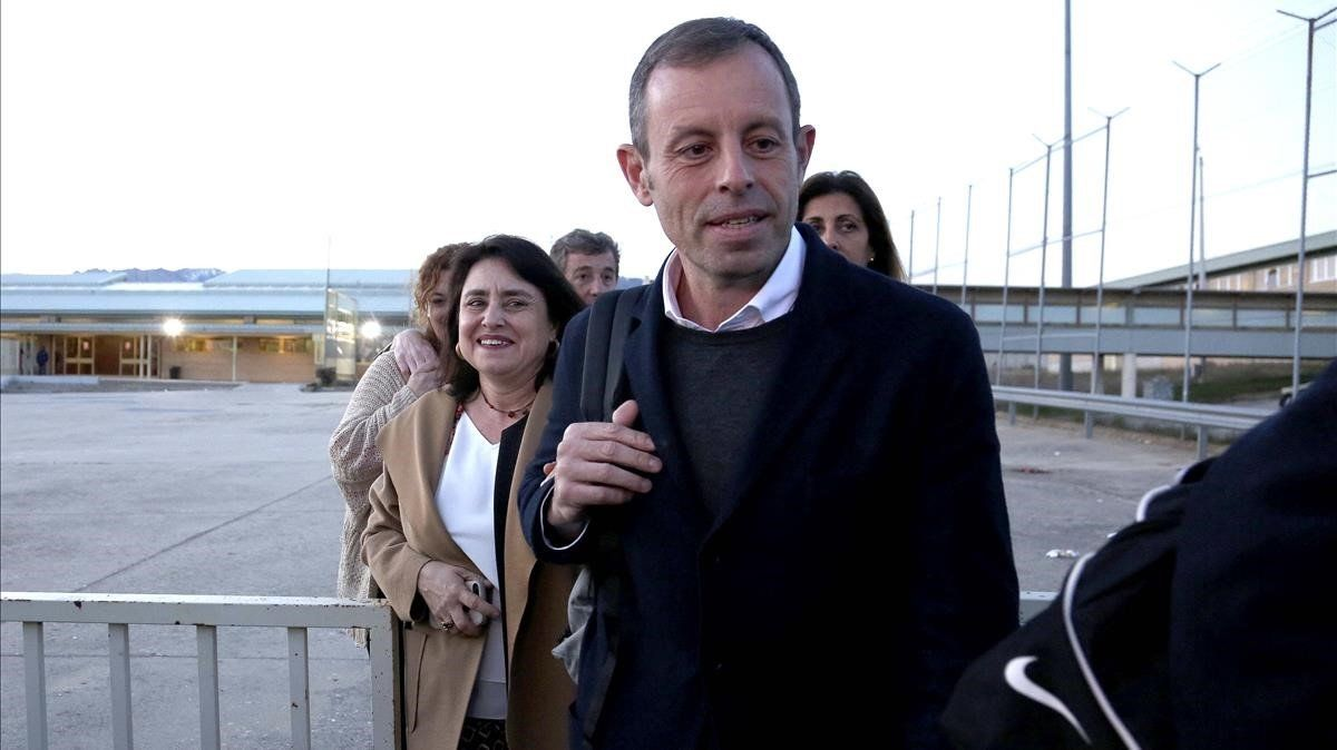 Salida de Sandro Rosell de la cárcel de Soto del Real, el pasado 27 de febrero.