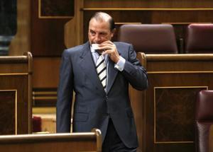 El exdiputado del PP Vicente Martínez Pujalte, en septiembre del 2015, en el Congreso.