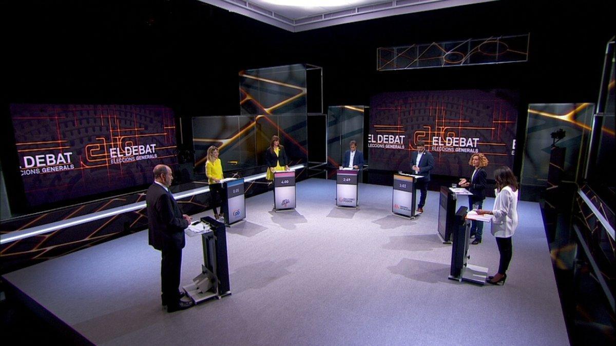 Un momento del debate que TV-3 ofreció este miércoles, 24 de abril.