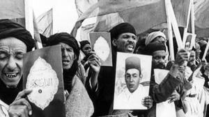 Imagen de la Marcha Verde, en noviembre de 1975