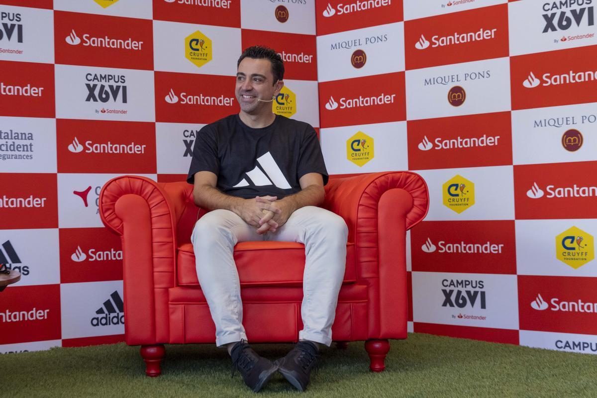 Xavi, en la presentación de su campus.