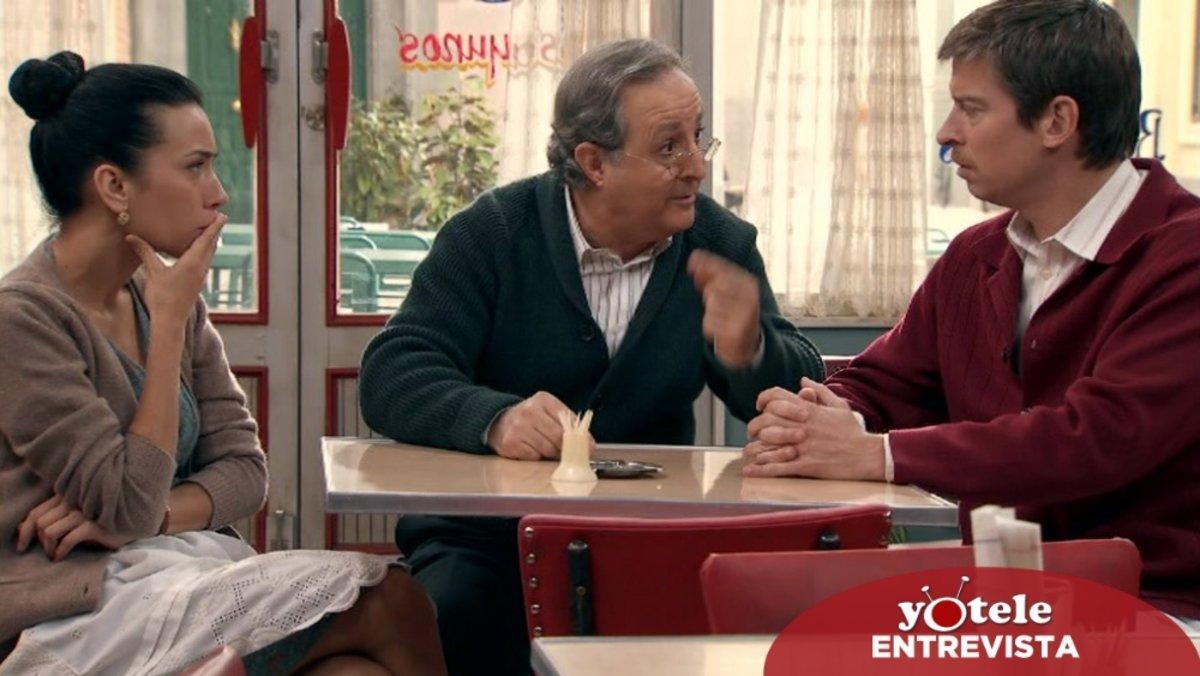Manolita (Itziar Miranda), Pelayo (José Antonio Sayagués) y Marcelino (Manuel Barqueiro) en 'Amar es para siempre'.
