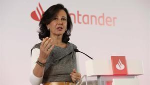 Ana Botín, presidenta del Banco Santander, en una imagen de archivo