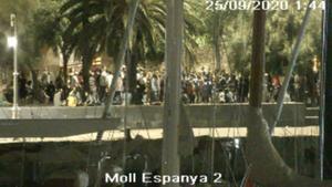 Denunciades 74 persones que participaven en un 'botellon' a Barcelona