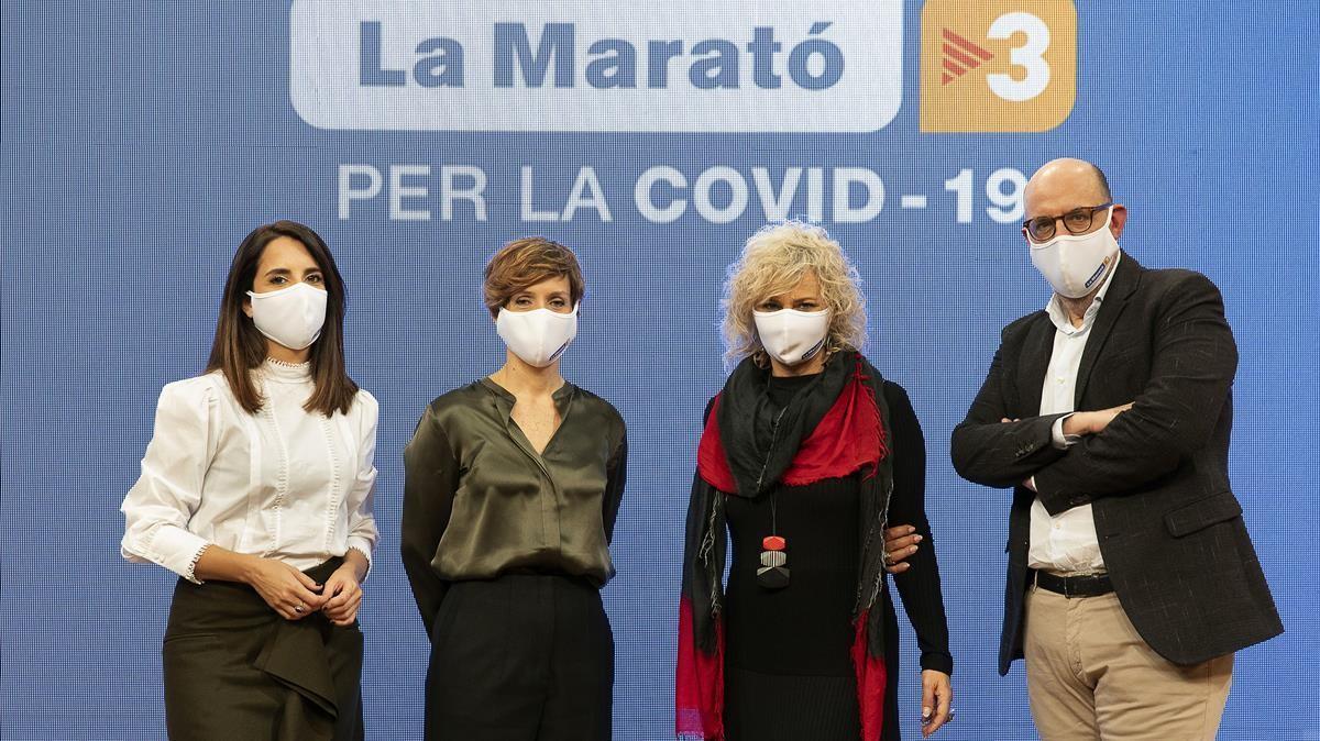17 12 2020  Sant Joan Despi Rdp presentacio de La Marato 2020  contra la Covid 19   foto  Jordi Play