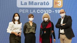 Laura Rosel, Raquel Sans, Mònica Terribas y Jordi Basté, presentadores de 'La Marató' del 2020.