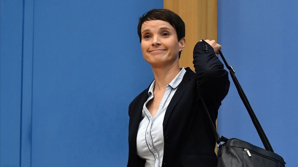 La expresidenta del partido deextrema derecha alemán AfD,Frauke Petry.