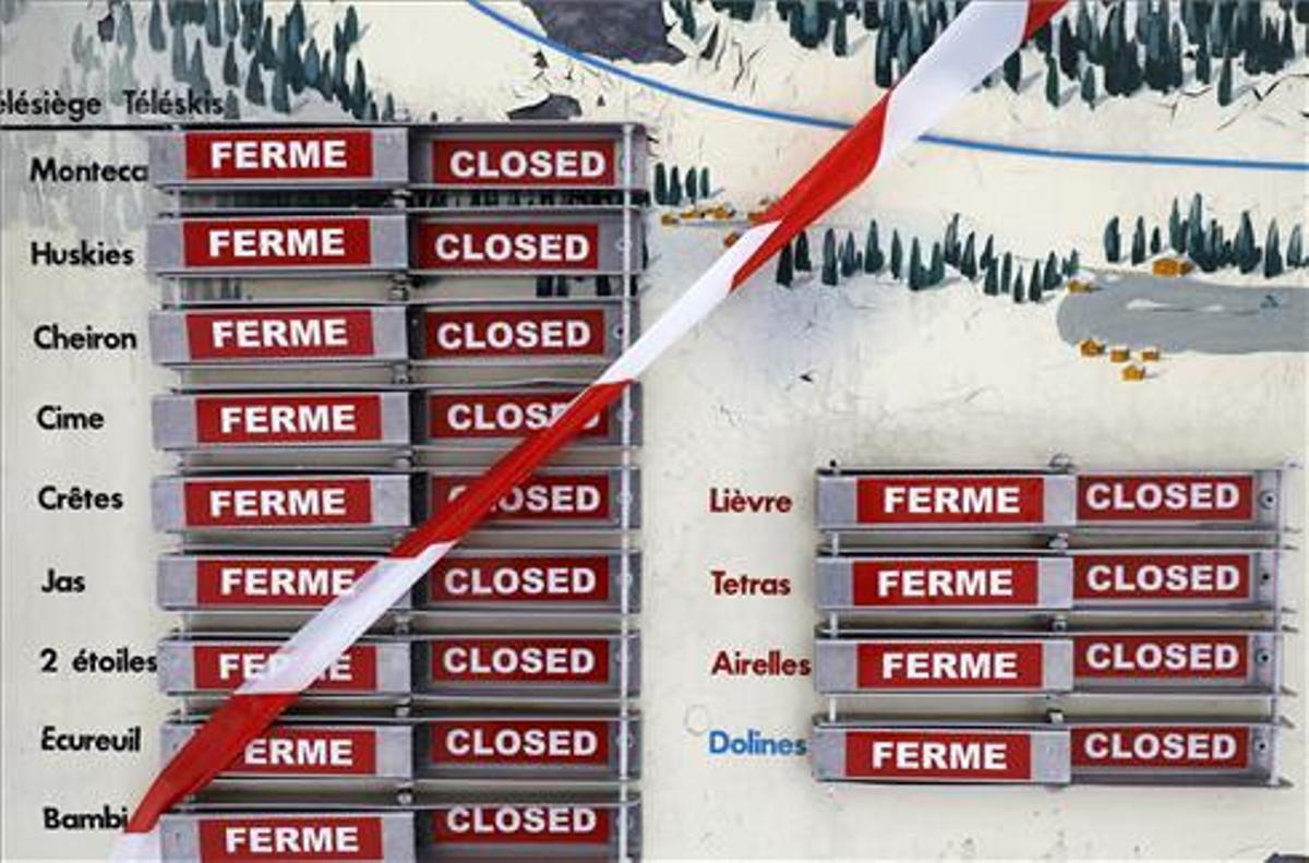 El Govern francès manté tancades les estacions d'esquí